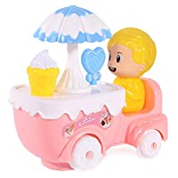 Dušial Electric Muic Mini Cart Pretend Play Trolley Car Table Toys for Girls Kids