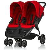 Britax B-Agile Doble  - Silla de paseo, color rojo