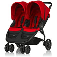 Britax B-Agile Doble - Silla de paseo, color Flame Red