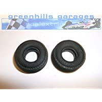 Greenhills Scalextric Griptrack Thin Large Grooved Tyres Pair - NEW - G316