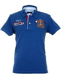 Pontto Herren Designer Polo Hemd Shirt weiß kurzarm - Polohemd Poloshirt Gr. L - 4XL