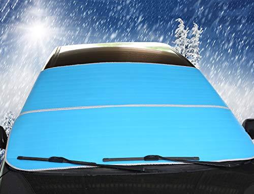 Couverture de Neige de Pare-Brise de Voiture Protection Pare-Brise Anti-Glace Écran Solaire Pare-Soleil avec Couverture de Neige rembourrée en Coton