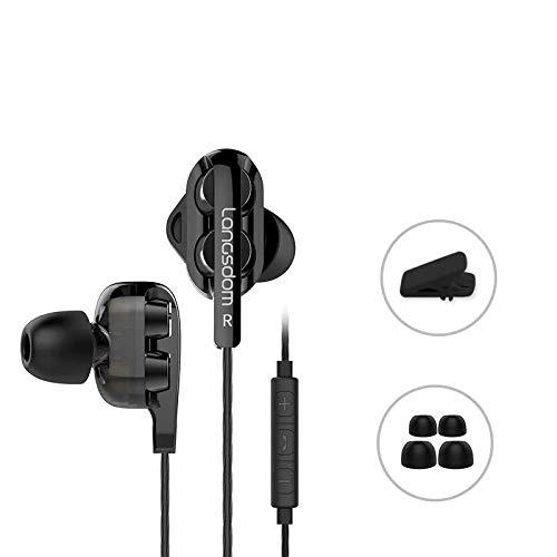 Bluehare Kopfhörer In Ears Rosegold, In-Ear Kopfhörer Bass mit Mikrofon Lautstärkeregelung für iPhone Samsung Smartphones Tablets MP3-Player usw Halloween
