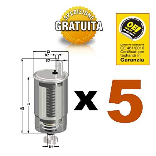 NR.5 FILTRI CARBURANTE GASOLIO COD.GS24/01 (UFI 24.ONE.01)