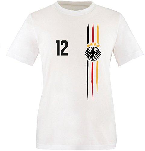 Luckja WM 2018 Deutschland T-Shirt Wunschname & Wunschnummer M 03 Kinder T-Shirt