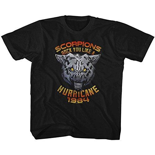 American Classics Scorpions deutsch-rock-band wolf jugend groß T-shirt für Jungen Jugend X- Klein Schwarz