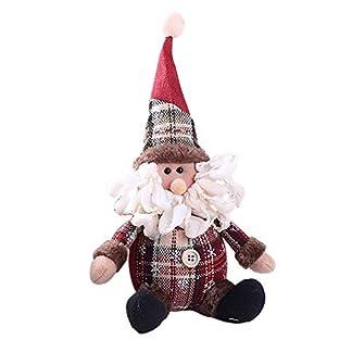 Casa Navidad Decoración Muñeca, lindo Papá Noel muñeco de nieve ciervo muñeca suave paño regalo de Navidad muñeca dibujos animados niños juguete árbol de Navidad adorno