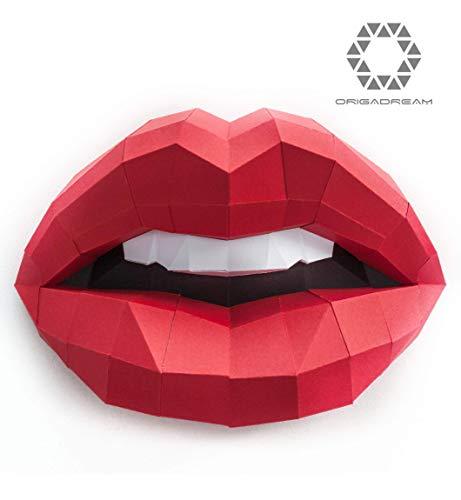 Kit DIY PAPERCRAFT labios sensuales mujer boca NUEVO
