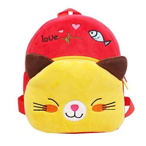 Winkey Rucksack für Kinder, Baby Mädchen Jungen Cute Cartoon Tier Rucksack Kinder Schule Tasche, Schultertasche Rote Katze Wide 20cm x Height 24cm