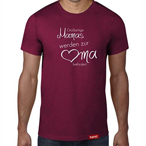 rden zur Oma befördert // Original Hariz® T-Shirt - Sechzehn Farben, XS-4XXL // Geschenk | Geburtstag | Lustig | Weihnachten | Damen #OMA Collection Burgundy XL ()
