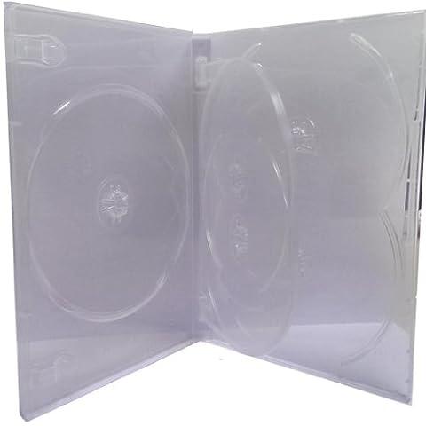 Four Square Media 25X CD/DVD/Blu-Ray Transparent 14mm DVD Case 5Way pour 5disques–Lot de 25