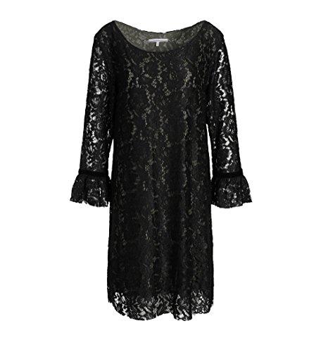(LA FEE MARABOUTEE Damen Spitzen-Kleid in Schwarz 123 Noir Militare 38)