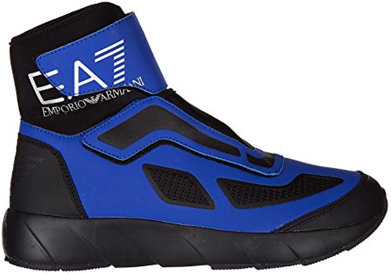 Emporio Armani EA7 Herrenschuhe Herren Schuhe High Sneakers space boot blu