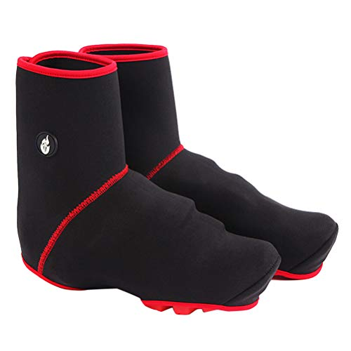 VORCOOL Copriscarpe Copriscarpe Invernali Antipioggia Protezione Calda MTB Copriscarpe Bici Sportivi Accessori (Nero)