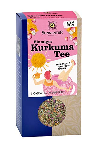 Sonnentor Bio Blumiger Kurkuma Tee lose bio (1 x 100 gr) (Lose Bio-eistee)