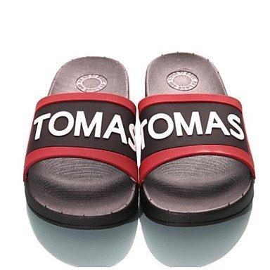 Slippers & amp da uomo;Estate slingback gomma casuale piani del tallone sandali rossi bianchi sandali US9.5 / EU42 / UK8.5 / CN43