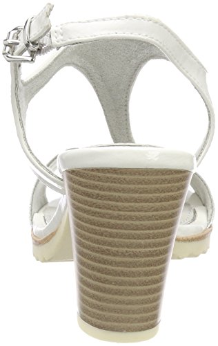 Marco Tozzi Damen 28732 Slingback Sandalen Weiß (White Comb)