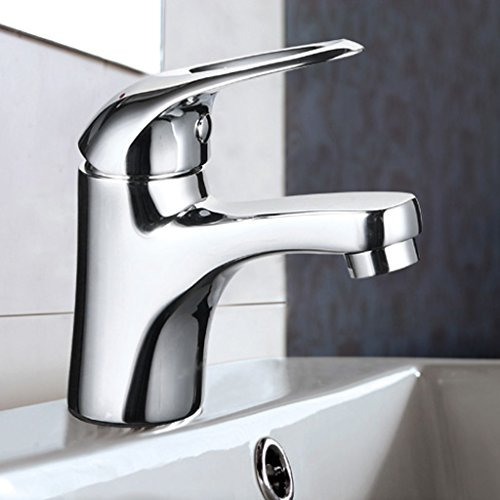 Simple Basin Water Hole Tap Lavabo Hot And Cold Faucet bien - être Taipower Faucet Placage