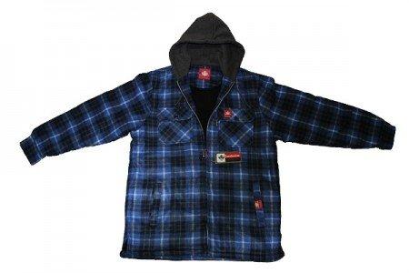 Camicia uomo thermo, winter camicia in pile camicia nero/colore: blu, taglia xl