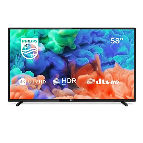 Philips 58PUS6203/12 58-Inch 4K Ultra HD Smart TV with HDR Plus and Freeview Play - Black (2018/2019 Model)