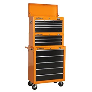 DJM 6 Drawer Top Chest Top Box + 5 Drawer Roller Cab Cabinet + 3 Drawer Add On Tool Box by DJM Direct