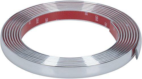 Preisvergleich Produktbild hr-imotion selbstklebende Chrom-Zierleiste - 500cm x 21mm [3M Material | Zuschneidbar | Witterungsbeständig | Hochflexibel] - 12010501