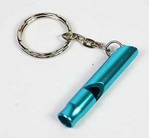 Turquoise Sifflet de dressage pour chien, 5 cm de long, attache porte-clés