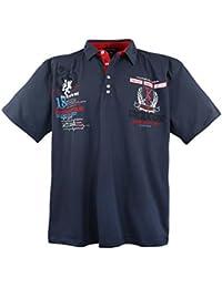 7eca21593bc8 Lavecchia Classic Sport Polo Tee Shirt - pour Homme - Grande Taille - Coton  - Anthrazit