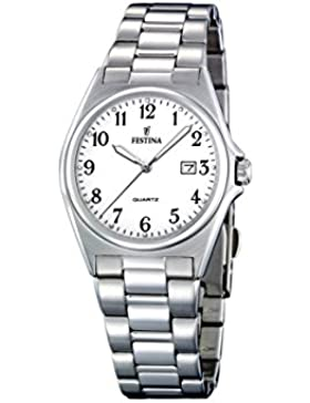 Festina Damen-Armbanduhr XS Klassik Analog Quarz Edelstahl F16375/1