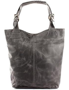 LECONI Henkeltasche Echt-Leder Vintage-Look Damentasche Handtasche für Damen Shopper für Freizeit, Büro oder Shopping...