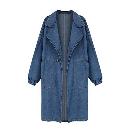 Btruely Mantel Damen Loose Fit Parka Groß Größ Jeansjacke Frauen Oberbekleidung Denim Trenchcoat Wintermantel Lange Jacke