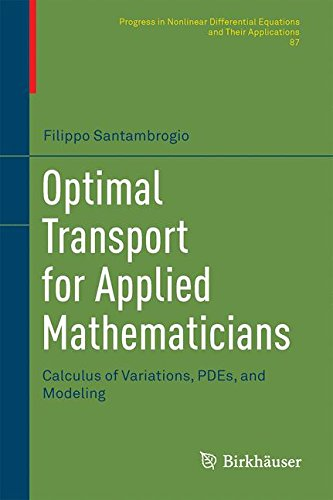 Optimal Transport for Applied Mathematicians : Calculus of Variations, PDEs, and Modeling