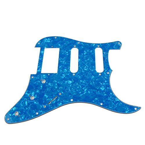 ikn-1-pcs-hss-3-capas-11-hoyos-golpeador-para-fender-squier-guitarra-tipo-stratocaster-skyblue-pearl