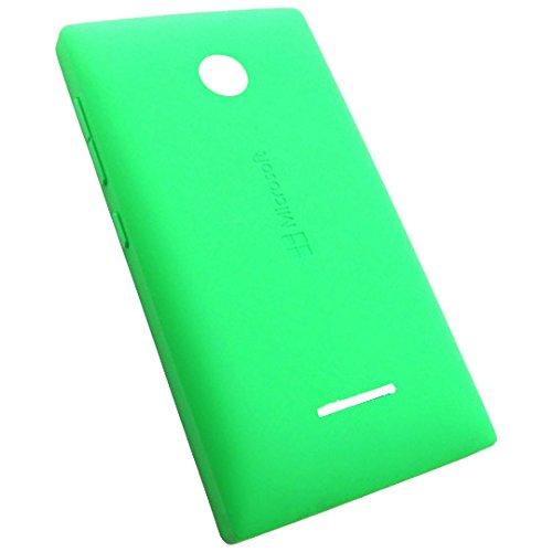 Microsoft Lumia 435 Dual Sim Original CC-3096 Clip-On Kunststoff Schutz Hülle Grün Hard Shell Case Green Akkudeckel Back Cover Akkufachdeckel Akku Batterie Rück Battery Deckel Gehäuse Klappe Schale Door Lid