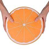 mildily Super großes, halb orangefarbenes, langsam ansteigendes Spielzeug, weiches, langsames Rückprallspielzeug für den Big Mac, Dekompressionsspielzeug, Stressabbau-Squishies