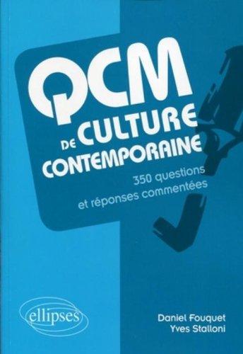 Qcm de Culture Generale le Monde Contemporain