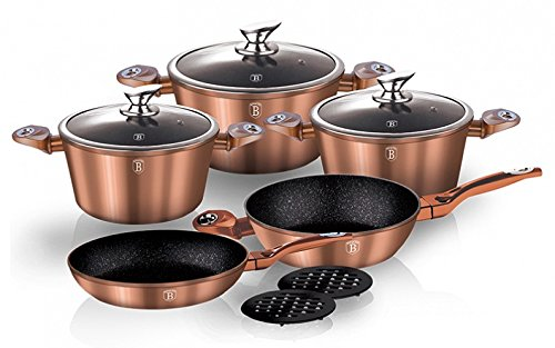 Berlinger Haus 10 pcs cookware set, Copper Metallic Line, BH-1220