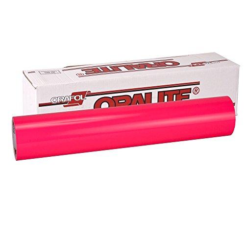 Oracal Fluorescent 6510 Neon Pink 1mx63cm, selbstklebende Autofolie mit Auffallgarantie