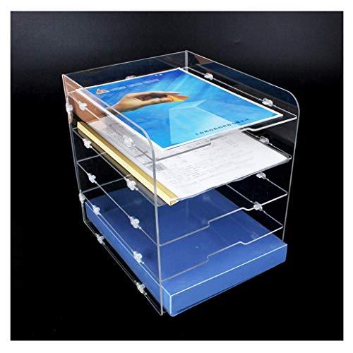 Ly88 - scaffale da scrivania per ufficio e ufficio, in acrilico, formato a4, multistrato, trasparente