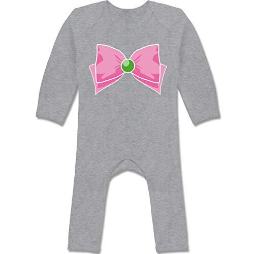 Karneval und Fasching Baby - Superheld Manga Jupiter Kostüm - 6-12 Monate - Grau meliert - BZ13 - Baby-Body Langarm für Jungen und ()