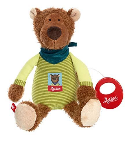 sigikid, Mädchen und Jungen, Spieluhr, Boschel Bear, Braun/Grün, 39021