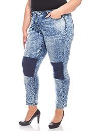 Aniston Skinny Jeans Hose mit Dunklen Einsätzen Denim Große Größen Kurzgröße  Blau 54bd6e39d9