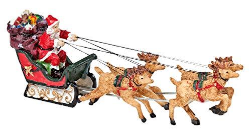 """VBS Deko-Figur\""""Weihnachtsmann on Tour\"""", Polyresin, ca. 16x5cm"""