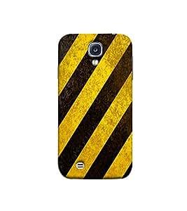 Fuson yellow and black strips designer pattern Designer Back Case Cover for Samsung Galaxy S4 I9500 :: Samsung I9500 Galaxy S4 :: Samsung I9505 Galaxy S4 :: Samsung Galaxy S4 Value Edition I9515 I9505G -P-1437