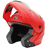 GTB FLIP UP HELMET -RED COLOR ISI MARKED