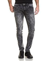 BLZ jeans - Jean slim noir délavé homme