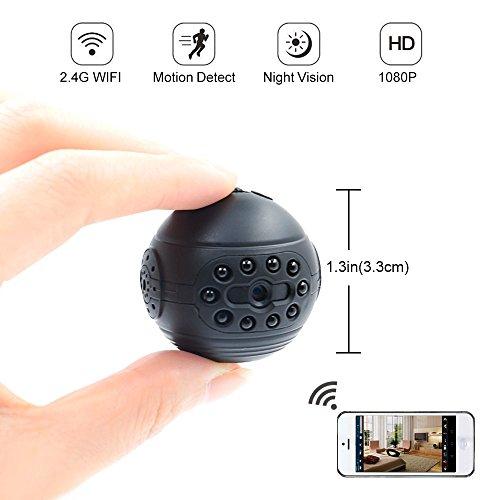Telecamera Spia, Mini Camera Wifi LXMIMI Telecamera Nascosta HD Spy Hidden Camera Wi-Fi Visualizzazione Remota con Visione Notturna e Rilevamento del Movimento per la Sorveglianza Domestica