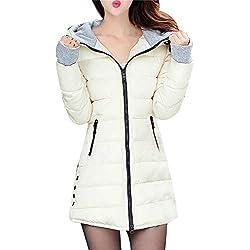 BBestseller-Abrigos de Cremallera Acolchado Sweatshirt Chaqueta de Algodon Largo con Capucha de Larga para Mujer Invierno Parka Pullover