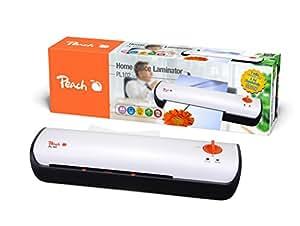 Peach PL102 Highspeed Laminiergerät DIN-A4 | Preis-/Leistungs-Sieger* | startklar in 60 Sekunden | 2x80 mic. | 600 mm/min | 2 DIN-A4 Seiten pro Minute | inkl. 10 Laminierfolien