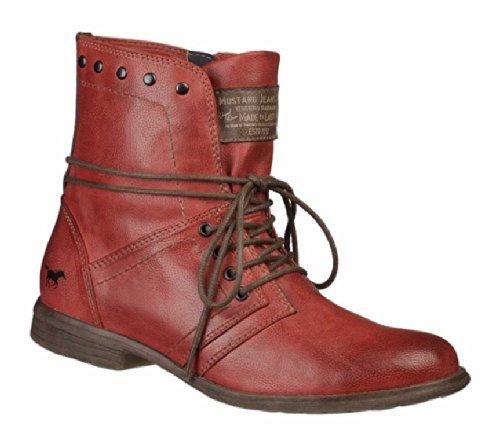 MUSTANG - Damen Boots - Rot Schuhe in Übergrößen, Größe:44